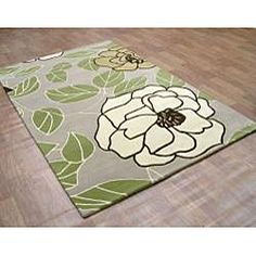 @Overstock.com - Hand-tufted Metro Floral Green Wool Rug (8' x 10') - A floral pattern blending Cuban sand and toffee within green oasis completes the look of this hand-tufted metro rug. This rug is crated from a wool blend and features a contemporary style.  http://www.overstock.com/Home-Garden/Hand-tufted-Metro-Floral-Green-Wool-Rug-8-x-10/5240546/product.html?CID=214117 $339.99