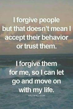 I'm still working on forgiveness