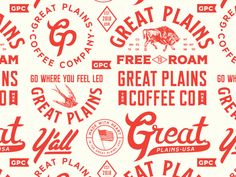 4 designed by Chris Ganz. Connect with them on Dribbble; the global community for designers and creative professionals. Coffee Branding, Logo Branding, Packaging Design Inspiration, Logo Inspiration, Western Logo, Great Plains, Retro Logos, Badge Design, Le Far West