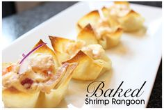 Chinese food without the guilt! Baked Shrimp Rangoon #recipe