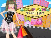 Shopping Teen Girl Dress UP    This cute girl has come to the famous shopping street and wants to purchase dresses and other accessories. Help her to choose the suitable items and make her look gorgeous. use mouse to interact  http://ezarcade.net/games/shopping-teen-girl-dress-up/