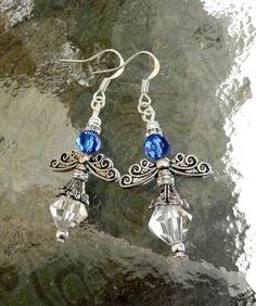 Genuine Sapphire Swarovski Crystal Antique Silver by IslandGirl77, $15.99