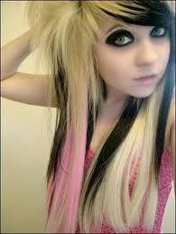Young Esme....black under blonde for emo /goth look  blonde emo - Google Search