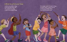 From: A STICK IS AN EXCELLENT THING by Marilyn Singer, illustrated by LeUyen Pham.