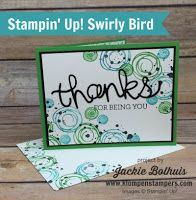 Swirly Bird Card Series #7