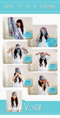 We love this DIY turban by lucky-loves.com #turban #DIY #tutorial