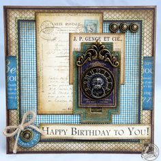 Masculine Birthday Cards to Make | ... of the real estate on the top right of the card to create balance