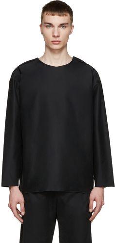 Black Smock Pullover