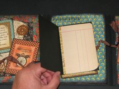 Steampunk Spells This Way n That Flip Album - Mini Spell Book open - Graphic 45 Papers & Stamps