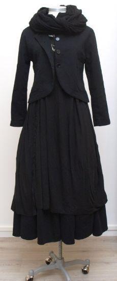 rundholz dip - Shirt Dress black cumin Jersey - Winter 2015