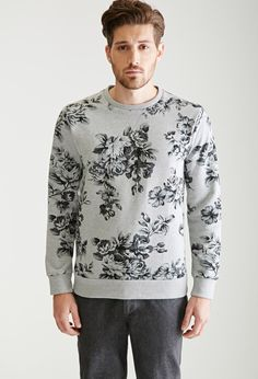 Rose Print Sweatshirt | 21 MEN - 2000136108