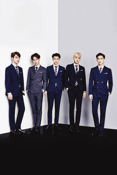 they are all the same height in this picture.....someone gave D.O, Chen and Suho shoe lifts didn't they XD