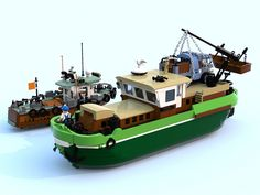 Camping gift ideas [for roadtrip lovers and outdoor freaks] Lego Boat, Lego 4, Building Systems, Building Toys, Lego City, Lego Ship, Lego Builder, Cool Lego Creations, Lego Worlds