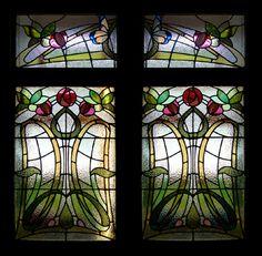 Stained Glass Glasgow Scotland - Stephen Weir Stained Glass - Art Nouveau stained glass door, Dunfermline 2010  http://www.stephenweir.co.uk/stained-glass-Glasgow-Scotland.html