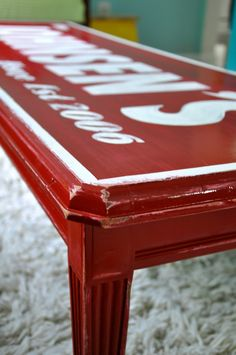 A personalized coffee table redo...I'm not sure if I am this brave...but I'd like to be!