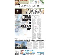 The front page of the Taunton Daily Gazette for Sunday, Aug. 23, 2015.