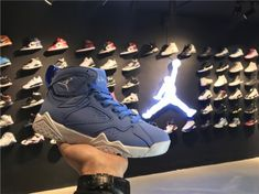 7e3d0da9a786 Latest Air Jordan 7 Retro Pantone University Blue White Blue Jordans