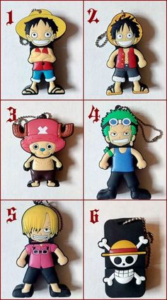 USB Flash 8GB One Piece - Luffy Sanji Zoro Chopper Cappello di Paglia Altre Dim