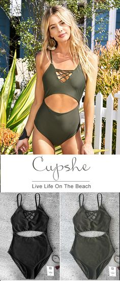 99b93480d1 Get out of spider web and fall in love this crisscross one-piece! $19.99