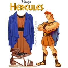 Hercules by disneycraze6 on Polyvore featuring polyvore fashion style New York Industrie Ginger + Soul Ancient Greek Sandals