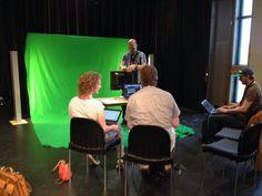 iXcamp Greenscreen bij workshop kennisclips maken