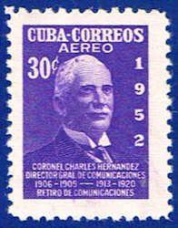 Cuba C69 Stamp - Colonel Sandrino Stamp - C CU C69-3 MH