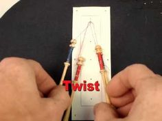 Tatman's vid tutorials on bobbin lace  http://www.youtube.com/user/tatmantats/videos?query=bobbin