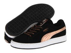 PUMA Suede Classic Rose Gold Wn's Black/White - Zappos.com Free Shipping BOTH Ways