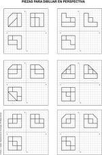 Dibujo técnico, realizar pieza isometrica a partir vistas diédricas