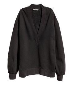 Oversize-Sweatshirt | Schwarz | Damen | H&M DE