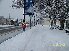 Oscoda, Michigan in the winter