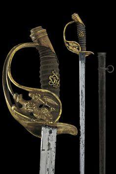 A 1889 model infantry officer's sword,                                                     last quarter of the 19th Century