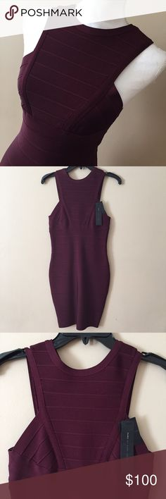 NWT Marc by Marc Jacobs bandage dress Absolutely stunning Marc by Marc Jacobs bandage dress. Guaranteed to turn heads, this never been worn and NWT dress is a show stopper!  Rich burgundy in color. Structured to perfection. This is the one! Marc by Marc Jacobs Dresses Midi