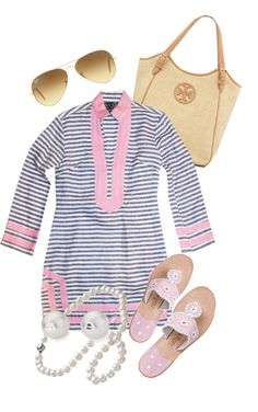 Nothin' beats a lovely Sail to Sable tunic, pink Jacks, pearls and some @Victoria Brown McCoy Burch!