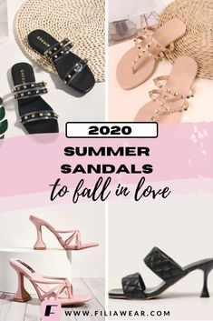 These are the 6 summer sandals we love for 2020. Shop the season's favorite sandals from flat shoes, wedge, mule heels, thong sandals, flipflop sandals, and sandals inspired by the most famous designers - Tory Burch, Valentino, Balenciaga, Bottega Veneta. Don't forget to update your shoe collection with some 90s inspired shoes. Cute Summer Sandals | 90s Fashion | 90s Sandals Platform #chunkysandals #vintagesandals #summershoes2020