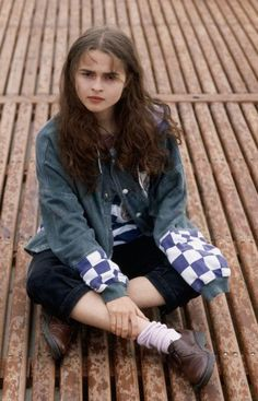 Young Helena Bonham carter,though from a distance you may think she's Emma Watson.