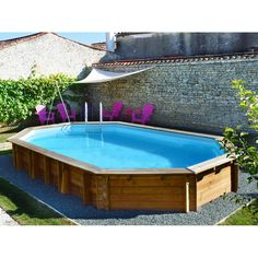 Piscine bois Sunbay Bogota x x Swimming Pools Backyard, Ponds Backyard, Backyard Retreat, Swimming Pool Designs, Backyard Landscaping, Landscaping Ideas, Small Above Ground Pool, In Ground Pools, Piscinas Gre