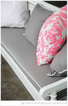 Hot Pink, Grey and White. The color scheme for my bedroom once I get started