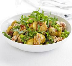Great for packed lunches or a summery tea: Two bean, potato & tuna salad