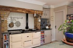 We love the warmth and feel an Aga adds to a kitchen