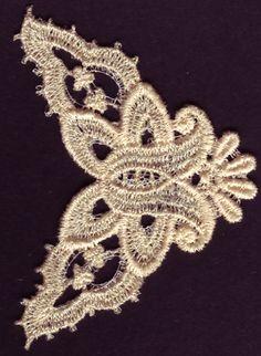 Unique Floral Free Standing Lace FSL Machine Embroidery Design
