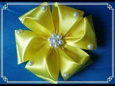 Como hacer flor de listón y el centro. - YouTube