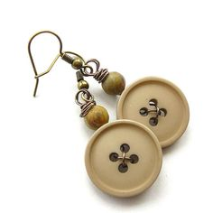 Dangle Earrings in Neutral Nude Tan
