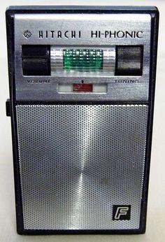 Hitachi Hi-Phonic Radar Tuning 6-Transistor Radio, Model TH-666F, Made in Japan, Circa 1964.