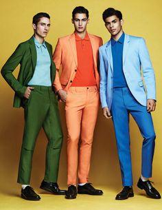Men's colorful suits
