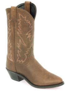 Old West Distressed Leather Cowgirl Boots
