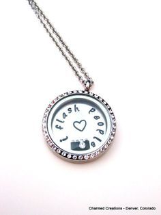 Floating Charm Locket Necklace  Stamped by CharmingLifeLockets, $36.00