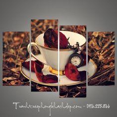 Tách trà hoa hồng cũng thể hiện chất nghệ thuật hợp treo quán cafe