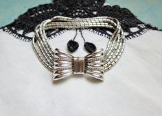 Vintage Bracelet Silver Bow Art Deco Style by IfindUseekVintage, $22.50