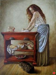 Daily Bread by Laura den Hertog Oil ~ 40 x 30